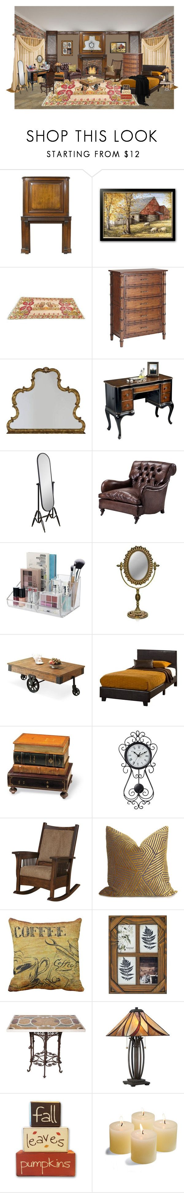 """Untitled #721"" by bamasbabes on Polyvore featuring interior, interiors, interior design, home, home decor, interior decorating, Pier 1 Imports, Hooker Furniture, Butler Specialty Company and Cooper Classics"