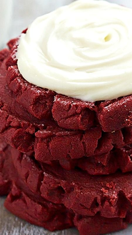 Red Velvet Sugar Cookies ~ The BEST soft, thick and moist red velvet sugar cookies with rich cream cheese frosting.