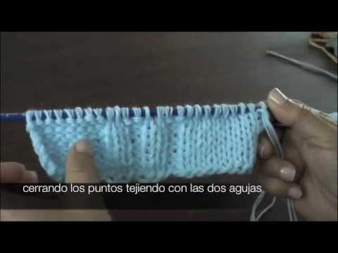 Dos agujas: cómo cerrar los puntos (+playlist) ❥Teresa Restegui http://www.pinterest.com/teretegui/❥