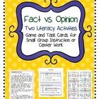 """This file has 48 fact and opinion cards.  The cards can be used a couple ways.  One way is to use them as a game where a """"reader"""" pulls a card from..."""