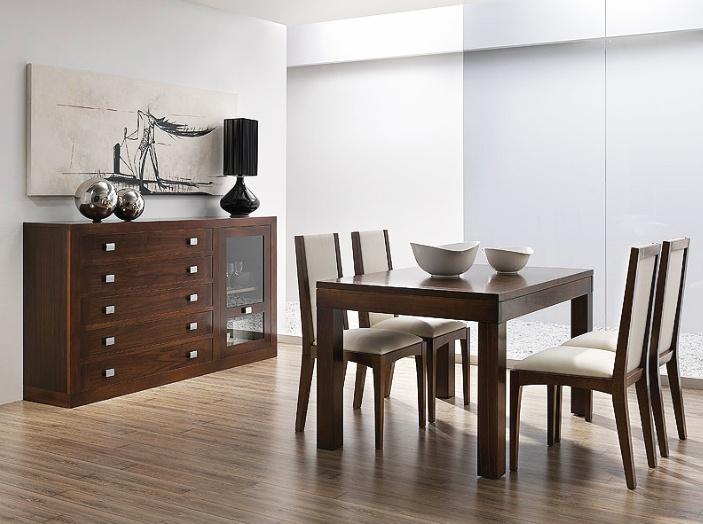 Muebles para sal n realizados en madera de nogal americano - Muebles de nogal ...