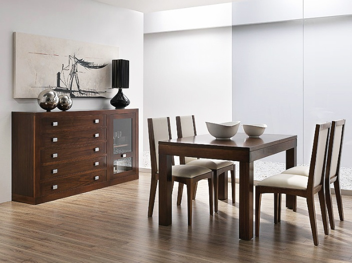 18 best muebles de salon comedor en madera de nogal images - Sweet home muebles ...