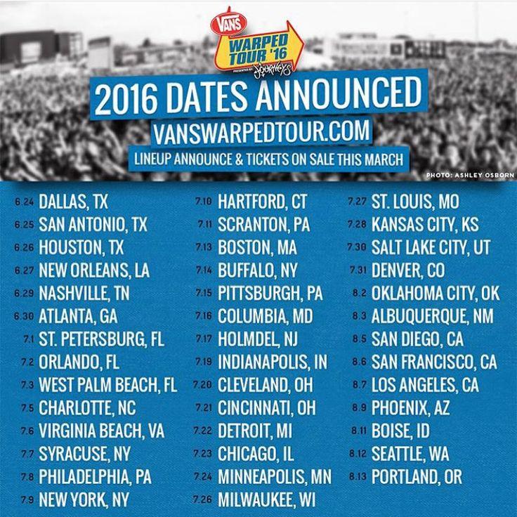 Warped tour dates in Perth