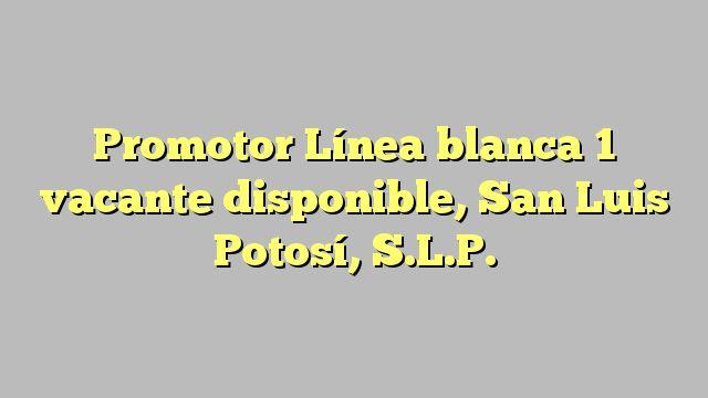 Promotor Línea blanca 1 vacante disponible, San Luis Potosí, S.L.P.