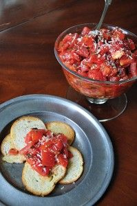 Hot Tomato Relish by P. Allen Smith | using our harvest