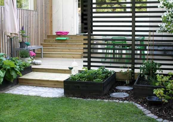 Small garden with patio. Rekkehushage