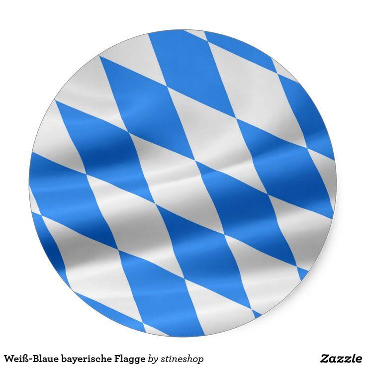 Weiß-Blaue bayerische Flagge Runder Aufkleber #verkauft auf #zazzle
