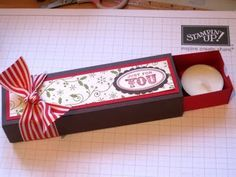 Stampin Up Demonstrator UK: A Free Tutorial for you Tealight box