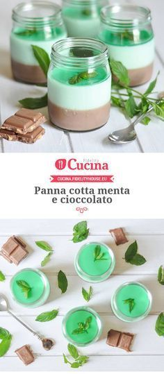 Panna cotta menta e cioccolato PannaCotta
