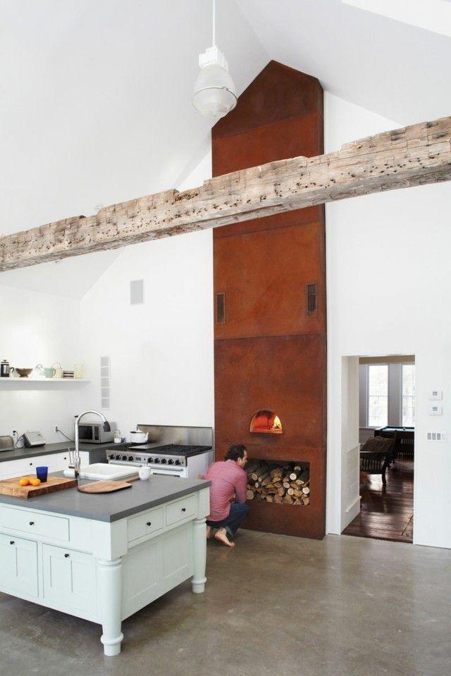 Küche Kochherd kleine Insel klassische Möbel restaurieren