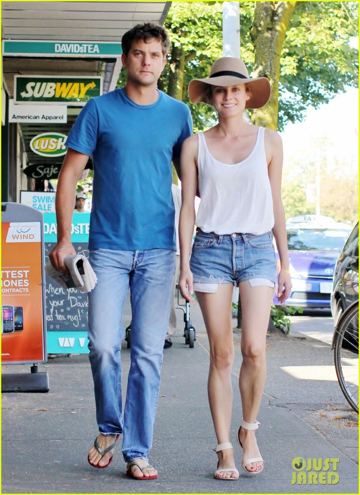 the hat and shoes make this laid-back look more polished - I love it! (aug 2012): Photos, Diane Kruger Street Style, Fashion Photo, Joshua Jackson, Diane Kruger Style, Cutest Couple, Summer, Photo Galleries, Has