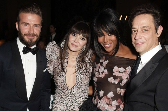 March 12, 2015 - David Beckham, Annabelle Neilson, Naomi Campbell and Jamie Hince
