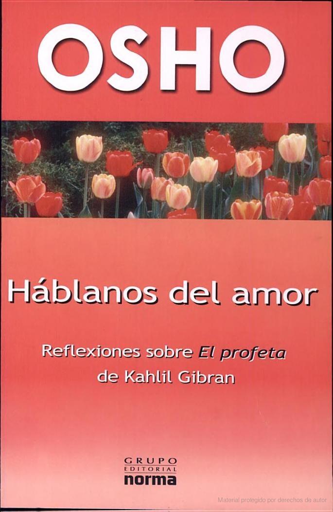Hablanos Del Amor - Osho, -Disponible en la biblioteca [Dec 2013]