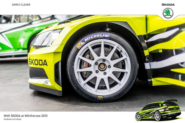 "Wörthersee Treffen 2015 is all about style and passion. Perfect opportunity to showcase awesome alloy wheels on ŠKODA cars 18"" alloys - ŠKODA R5 combi! #R5combi  #SKODAWoertherse"