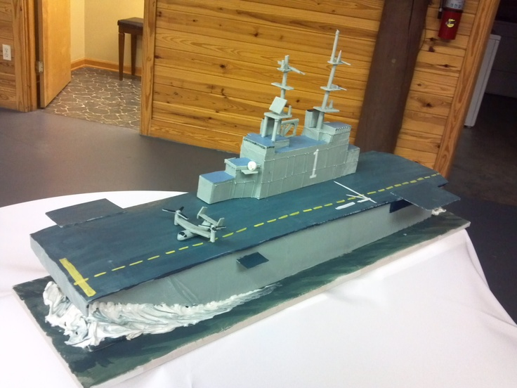 White chocolate Aircraft Carrier