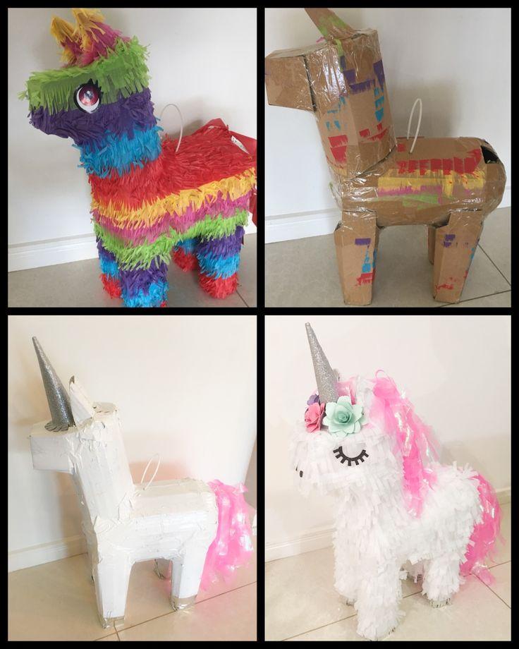 Kmart piñata turned into a unicorn #kmarthack #unicornparty PIÑATA DE UNICORNIO