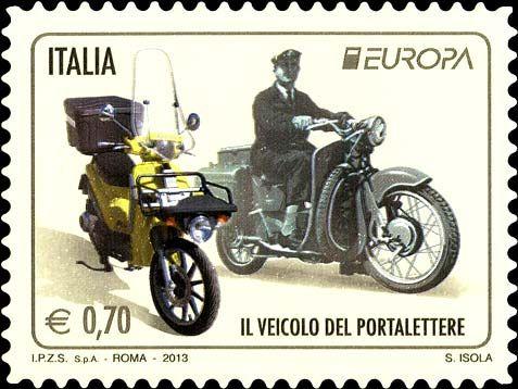 2013 - serie Europa - Motocicli usati per il servizio postale