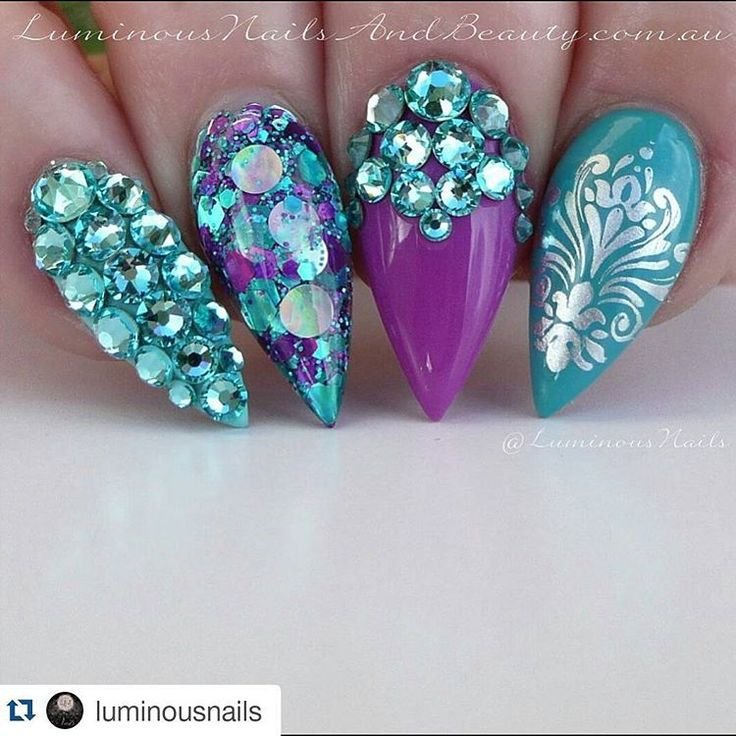 Awesome Nail Art Glitter Mix Image Collection - Nail Art Design ...