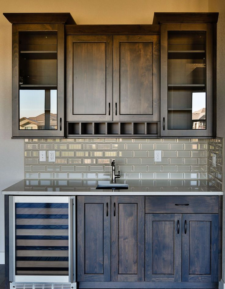 17 best ideas about bar cabinets on pinterest wet bar - Basement kitchen and bar ideas ...