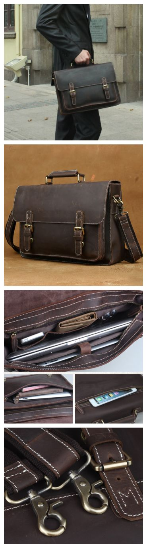 Handmade #Leather #messenger #bag leather #briefcase,