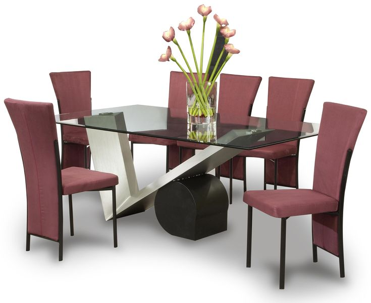 dining room maroon fabric upholstered dining chairs modern design of rectangular glass top table dining set when cheap dining chairs become