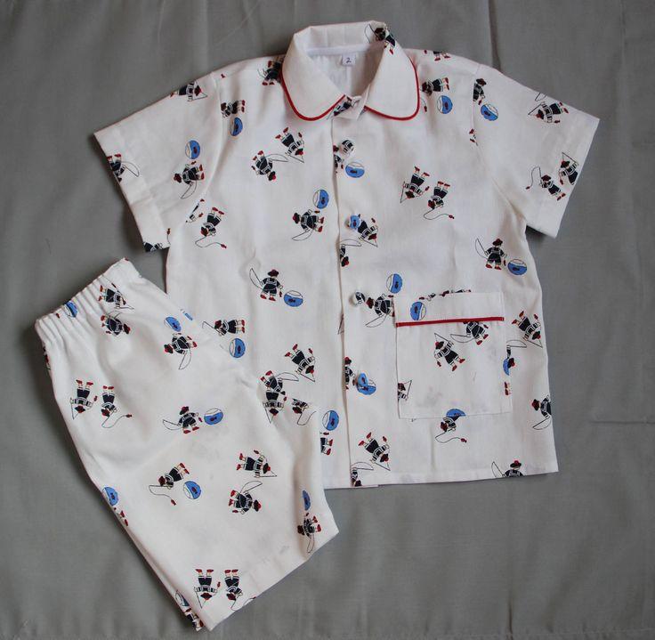 Pyjama d'été en coton T 2 ans de la boutique LesBambinsBPCouture sur Etsy