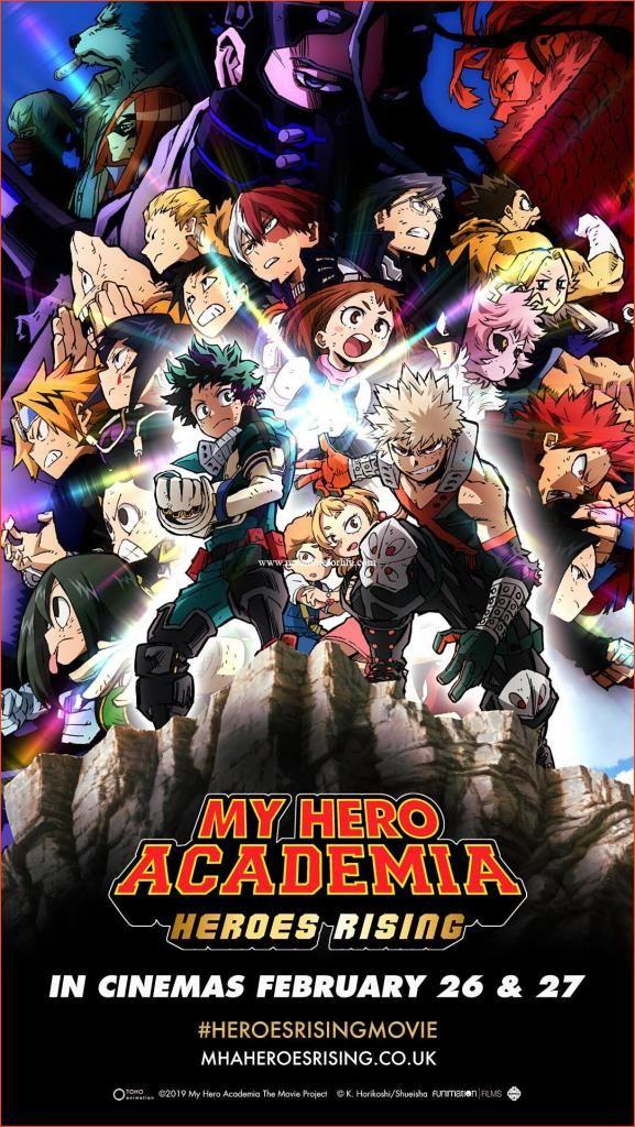 My Hero Academia The Movie Heroes Rising Releasing In Uk Ireland On Theatrical Screens On Februar My Hero Academia Hero Hero Movie