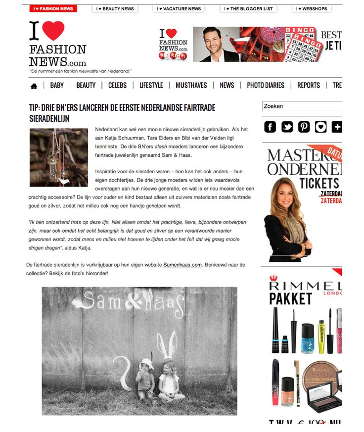 I Love Fashion News September 2013 - Sam&Haas