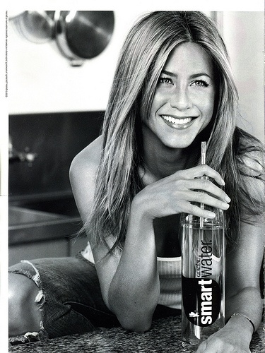 Although no one drinks bottled h2o with a straw; I still love Jen