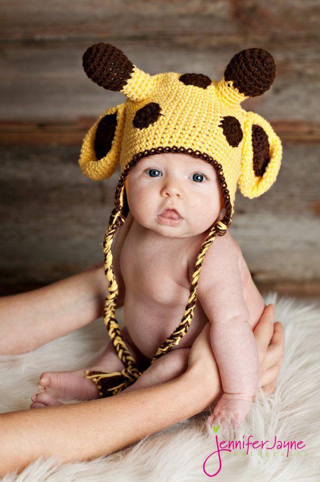 giraffe crochet hat free pattern ~~ www.pinterest.com/pmidesigns1