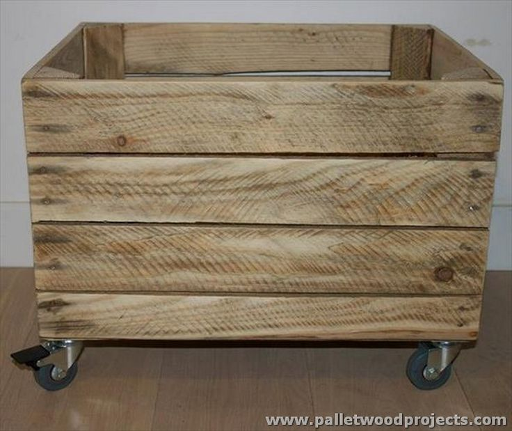 Pallet Crate Storage Box with Wheels