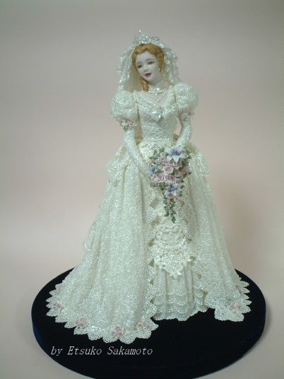 Lace Draping Porcelain Doll | Dream Tree Lace Draping Doll