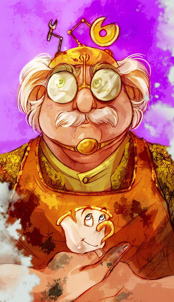 """Maurice by MistyTang.deviantart.com on @DeviantArt - From """"Beauty and the Beast""""; I love how he looks totally Steampunk!"""