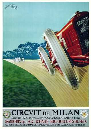 Circuit de Milan Auto Grand Prix 1922 Posters and Prints