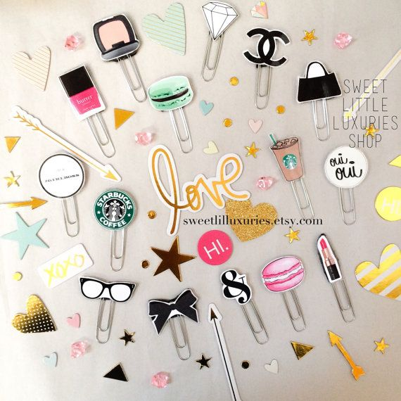 Super cute paper clips that will add such a sweet touch to your planner or office desk!    Available in 3 different collections.