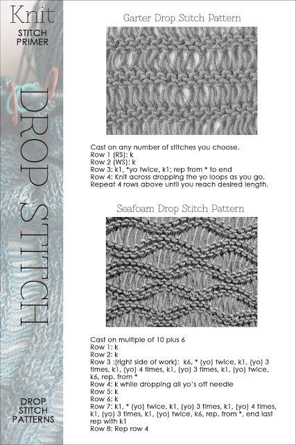 Drop Stitch #knitting - Many knitting stitch patterns and videos. DiaryofaCreativeFanatic