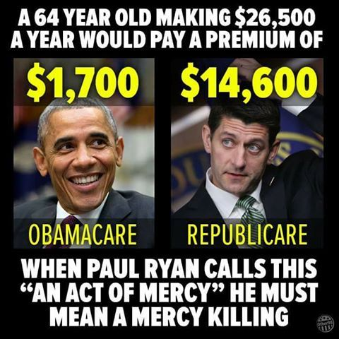 If this passes.... Cannot wait for those #Trump Supporters to get their first Premium and Doctor's Bill