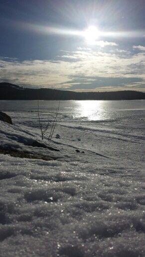 A sunny winterday in Vormträsk, Sweden.