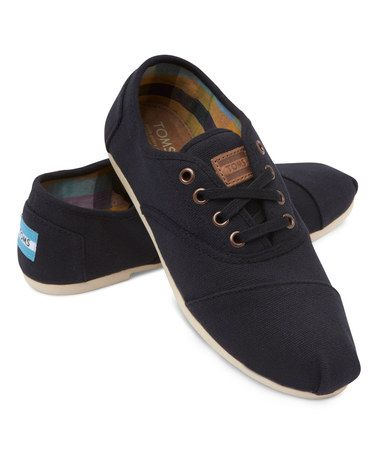 Look at this #zulilyfind! Black Canvas Classic Cordones Sneaker #zulilyfinds