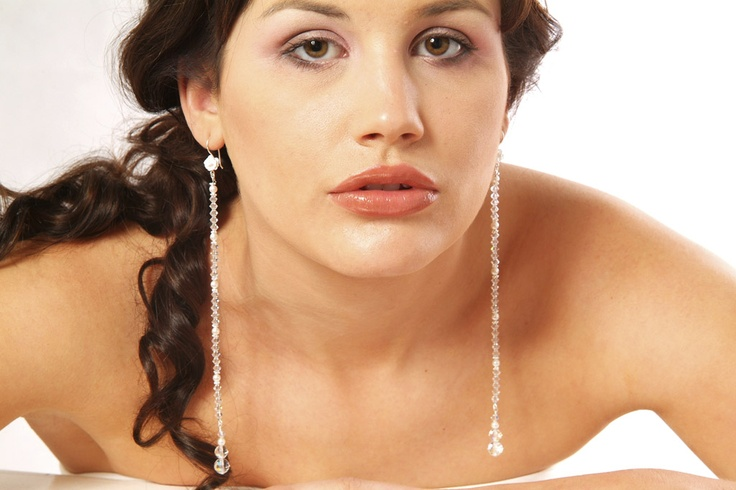 Swarovski crystal earrings...perfect for a bride
