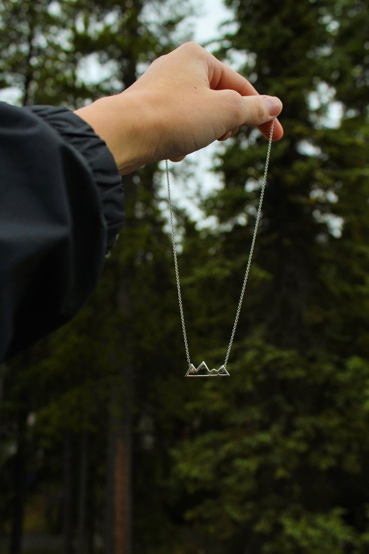 Mountain Necklace Dainty little pendant that boasts a big message! Jewellery