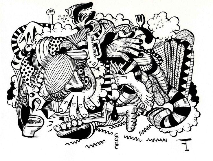 Oeuvre originale - Titre du dessin : LA DIGESTION