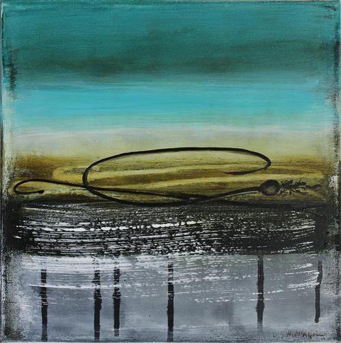 "Original art for sale at UGallery.com   Shoreline Kelp #4 by Heather McAlpine   $400   acrylic painting   12"" h x 12"" w   http://www.ugallery.com/acrylic-painting-shoreline-kelp-4"