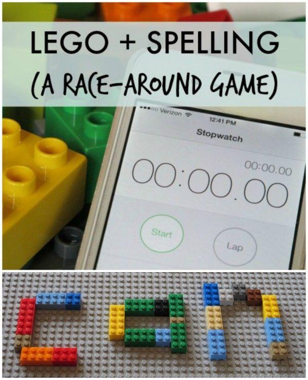 LEGO Spelling Race-Around Game