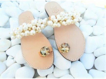 Bridal Pearl Strap Sandals