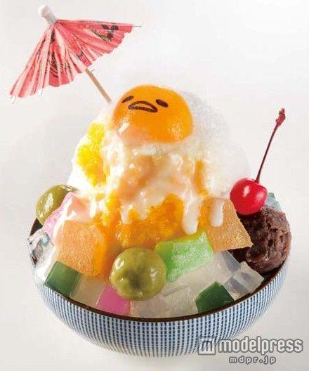 「ぐでらっくすかき氷/マンゴーミルク」1,150円(税抜き)画像提供:サンリオ【モデルプレス】