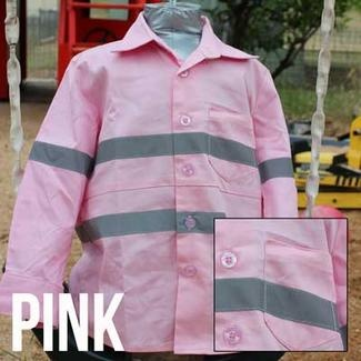 Cuties By Zootys - Pink - Original Hi Viz Kids Work Shirts