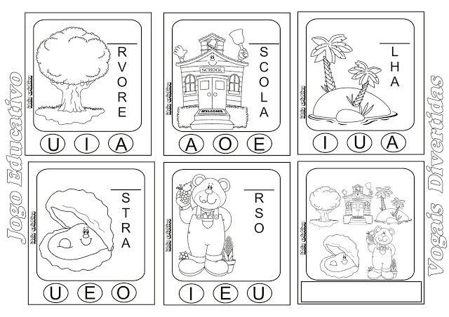 Jogo Educativo Vogais Ideia Criativa Gi Barbosa Educacao Infantil Atividades De Escrita Atividades Educativo