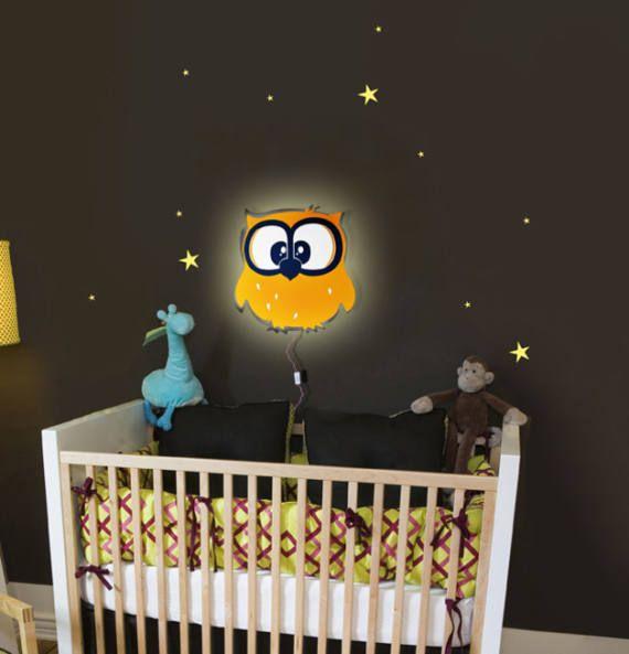 Elegant Eulenlampe Wandlampe Lampe Eulen Eule Emil LA Wandlampe Kinderzimmer EulenDekoWandleuchtenLed