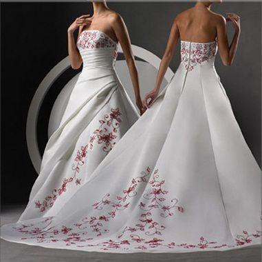 Unique Wedding Dresses With Color Photos wedding dresses with colored embroidery